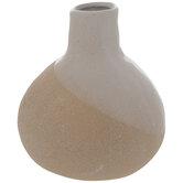Cream Asymmetric Bulbous Vase