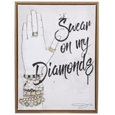 Swear On My Diamonds Canvas Wall Decor