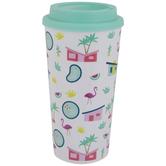 Flamingo Resort Travel Mug
