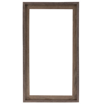 """Two-Tone Stepped Wood Open Frame - 12"""" x 24"""""""