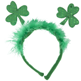 Green Sequin Shamrocks Bopper Headband