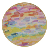 Rainbow Watercolor Paper Plates - Large