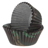 Camouflage Baking Cups