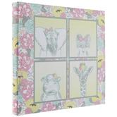 "Baby Girl Animals Post Bound Scrapbook Album - 12"" x 12"""