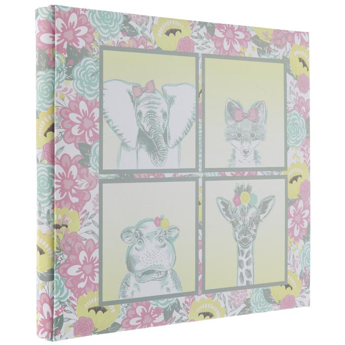 "Baby Girl Animals Post Bound Scrapbook Album - 12"" x 12""   Hobby Lobby   1402023"