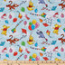 Pooh Balloons & Kites Cotton Calico Fabric