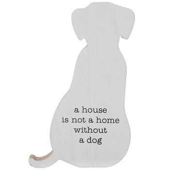 Not A Home Without A Dog Wood Decor