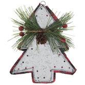Buffalo Check & Galvanized Tree Ornament