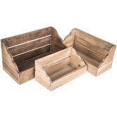 Distressed Wood Wall Shelf Set