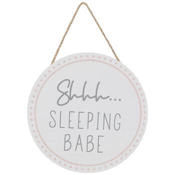 Sleeping Babe Wood Wall Decor