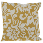 Yellow & White Floral Pillow Cover