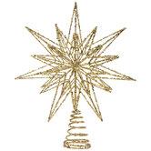 Glitter Wire Star Tree Topper