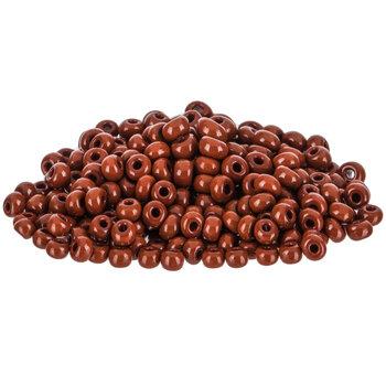 Opaque Brown Czech Glass Seed Beads - 6/0