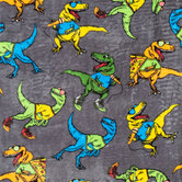 Cool T-Rex Velvet Fleece Fabric