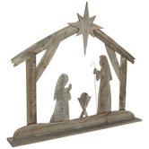 Barnwood Nativity Scene