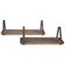 Industrial Wood Wall Shelf Set