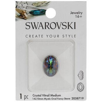 Crystal Vitrail Medium Mystic Oval Swarovski Stone - 14mm x 10mm