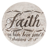 Distressed Scripture Decorative Sphere
