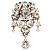 Ornate Rhinestone Brooch