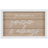 Forever & Always Wood Decor