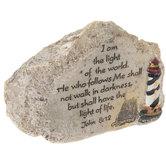 John 8:12 Stone Decor