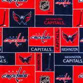 NHL Washington Capitals Block Fleece Fabric