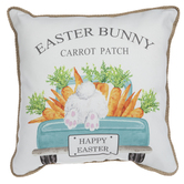 Easter Bunny Carrot Patch Pillow