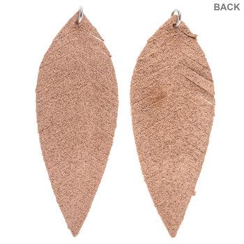 Brown Leather Leaf Pendants