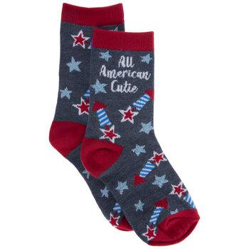 All American Cutie Youth Crew Socks - Small