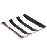 Black & White Striped Jewelry Dish