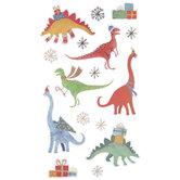 Holiday Dinosaur Stickers
