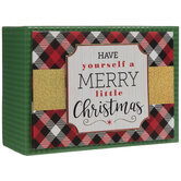 Red Plaid & Holographic Christmas Cards