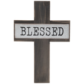 Blessed Wood Wall Cross