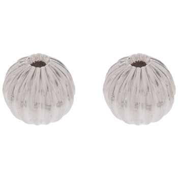 Fluted Metal Beads - 5mm