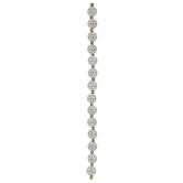 Diamond Pattern Glass Round Bead Strand
