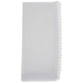 White Pom Pom Fringe Cloth Napkin