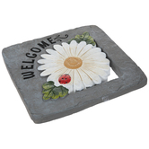Welcome Daisy Stepping Stone
