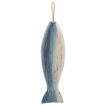 Blue Ombre Fish Wood Wall Decor