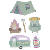 Glamping 3D Stickers