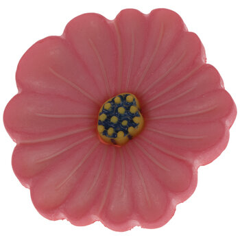 Pink & Yellow Flower Shank Buttons