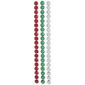 Red, Green & Silver Rhinestone Border Stickers