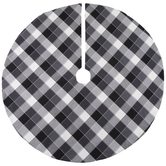Black & White Buffalo Check Tree Skirt
