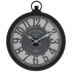 Black Edinburgh Wall Clock