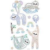Sloth & Balloon Rhinestone Stickers