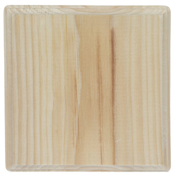 Square Wood Plaque - 6 3/4""