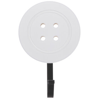 White & Black Button Wall Hook