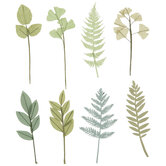 Green Foliage Embellishments