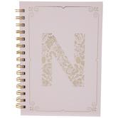 Pink & Gold Foil Letter Journal - N