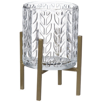 Chevron Glass Candle Holder & Stand