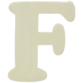 Wood Letters F - 4""